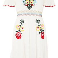 **Floral Embroidered Bardot Dress by Glamorous | Topshop