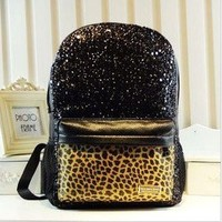 shego shopping mall — Cool Shiny Sparking Leopard Backpack Bag