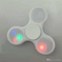 2017 LED Decompression Toy Hand Spinner Fingertips With Flash EDC Hand Spinner Plastic Fidgets Toys With Switch LEDF01