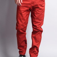 Men's Jogger Twill Pants (Burnt Orange)