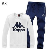 Kappa autumn and winter new plus velvet casual sportswear sweater cardigan running two-piece #3