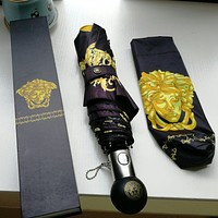 Versace new hot sale men and women Medusa printed high-end automatic umbrella