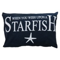 """The Vintage House by Park B. Smith® """"Wish upon a Starfish"""" Oblong Throw Pillow"""