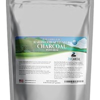 Hardwood Activated Charcoal Powder 100% from USA Trees 8 oz. All Natural. Whitens Teeth, Rejuvenates Skin and Hair, Detoxifies, Helps Digestion, Treats Poisoning, Bug Bites, Wounds. FREE scoop!