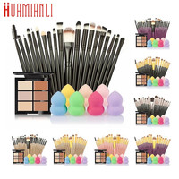 Professional Cosmetic Set 6-Color Concealer +20 Makeup Brush + Water Puff Puff Powder Puff Makeup Set jan12dropship