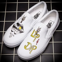 Trendsetter VANS Graffiti Print Canvas Old Skool Flats Shoes Sneakers Sport Shoes