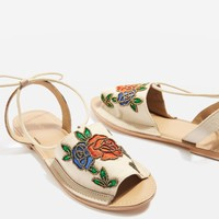 HALLE Embroidered Sandals | Topshop