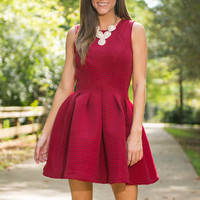 Icing On The Cupcake Dress, Red
