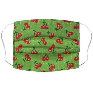 Cherry Pattern Face Mask Cover