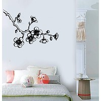 Vinyl Wall Decal Sakura Cherry Japanese Decor Asian Stickers Unique Gift (509ig)