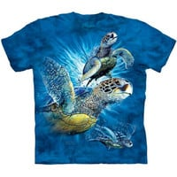 FIND 9 SEA TURTLES T-Shirt The Mountain Marine Animal Art Collage S-5XL NEW