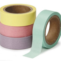 DARICE 1217-151 Washi Tape Roll, 5/8 by 315-Inch, Assorted Pastel, 4-Pack