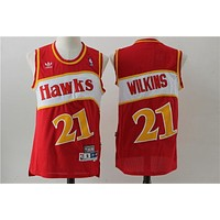 Atlanta Hawks 21 Dominique Wilkins Retro Basketball Swingman Jersey
