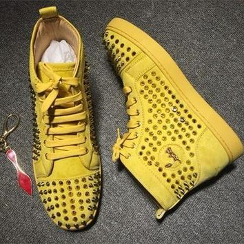 Cl Christian Louboutin Louis Spikes Style #1862 Sneakers Fashion Shoes - Best Online Sale