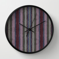 Baroque lines Wall Clock by Tony Vazquez