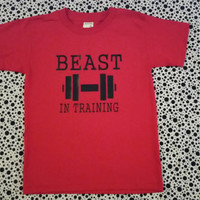The Beast  IN Training TShirts for Youth Boys