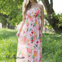 In Bloom Floral Maxi in Rose