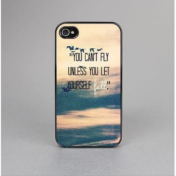 The Pastel Sunset You Cant Fly Unless You Let Yourself Fall Skin-Sert for the Apple iPhone 4-4s Skin-Sert Case