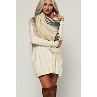 Don't Rush Blanket Scarf (Beige)
