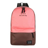 Women Polyester Fiber Backpack Preppy Style Teenagers