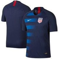 USMNT Nike 2018 Away Authentic Vapor Match Blank Jersey – Navy