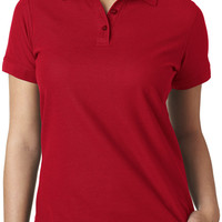 ultraclub ladies' basic blended pique polo - red (xl)