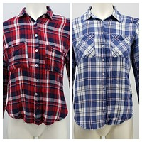 Charlotte Russe and Aeropostale Womens Plaid Shirts lot of 2