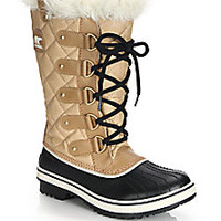 Sorel - Tofino Cate Faux Fur-Trimmed Lace-Up Boots - Saks Fifth Avenue Mobile