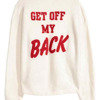 Jumper with appliqué - White - Ladies | H&M GB