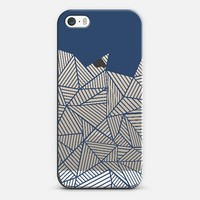 Abstract Mountain Navy Transparent iPhone 5s case by Project M | Casetify