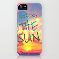 Chasing the Sun iPhone Case by M✿nika  Strigel   Society6