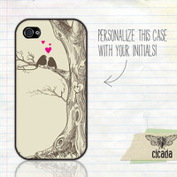 Sweet iPhone Case - Love Birds iPhone 4 Case, iPhone 4s Case, Cases for iPhone 5, iPhone Cover (0141)