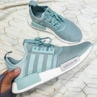 ''Adidas'' Women Running Sport Casual Shoes NMD Sneakers - Mint Green