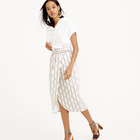 TULIP FAUX-WRAP SKIRT IN IVORY IKAT