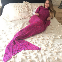 Hot Deal Mermaid Winter Sofa Blanket [9068156868]