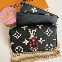 LV Crafty Onthego New Women's Three-in-One Mahjong Bag Three-piece Set