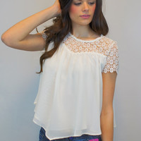 Ivory Sheer Babydoll Blouse
