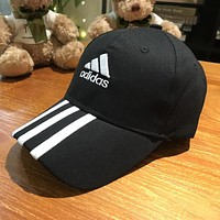 ADIDAS Men's and Women's Sun Hat Cotton Outdoor Sports Cap black