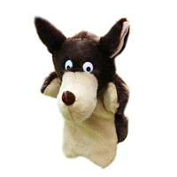Wolf Hand Puppet Baby Kids Bedtime Story Tool Child Soft Doll Parent-child Toy Gift