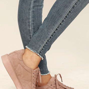 My City Mauve Suede Sneakers