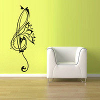 Wall Decal Vinyl Sticker Decals Note Notes Wave Music Nice (z1532)