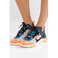 Nike React Element 87 Microsuede-trimmed Ripstop Sneakers #2589