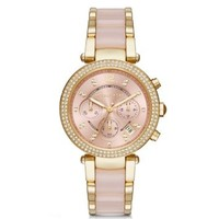 Parker Pavé Gold-Tone and Acetate Watch | Michael Kors