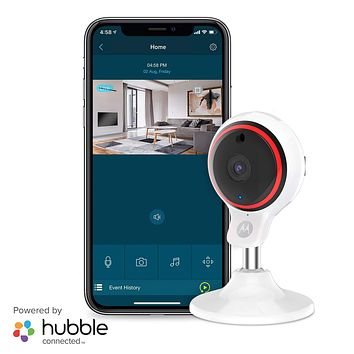 Motorola Focus71 Indoor Security Camera System - Surveillance, Elderly, Pet, Baby Monitor with Two-Way Audio Talk - Mountable Base, 1080p Video, 90-Degree Wide Angle View, Low Light and Night Vision 1 Camera