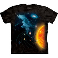 SOLAR SYSTEM The Mountain Space Stars Galaxy Moon Planets T-Shirt S-3XL NEW