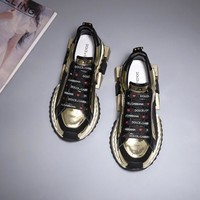 19SS Dolce & Gabbana D&G Casual Shoes Genuine Leather Leisure Comfortable Sneaker DG Boots
