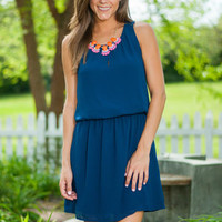 Sophisticated Simplicity Dress, Navy