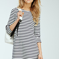 Nautical-Striped Shift Dress