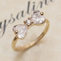 Cute CZ Bowtie Ring for Woman