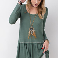 Forest Green Thermal Baby Doll Tunic
